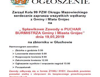 Zawody Spławikowe o Puchar Burmistrza Gminy i Miasta Grójec