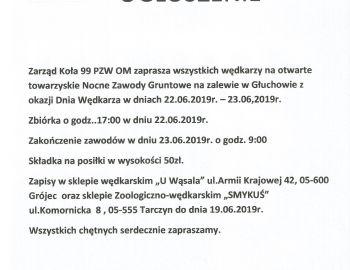 Towarzyskie Nocne Zawody Gruntowe z okazji DNIA WĘDKARZA