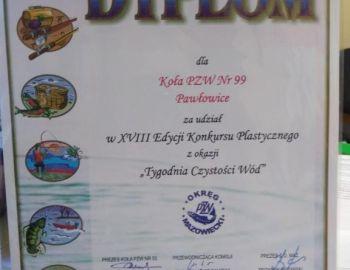 Dyplom za udział w konkursie plastycznym.